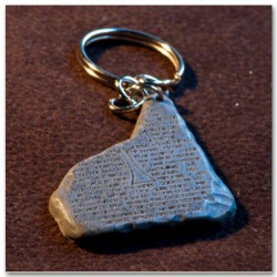 Grail Tablet keychain (stone appearance)