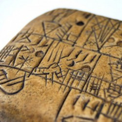 """Cuneiform writing"" tablet"