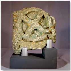 The Antikythera mechanism with wooden stand