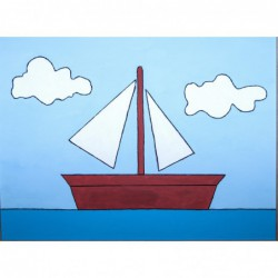 Sailing boat painting