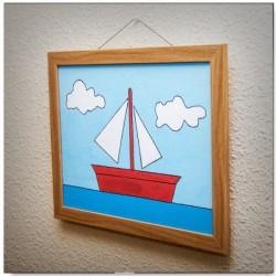 """Cuadro del barco velero de """"Los Simpson"""""""