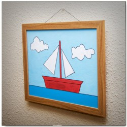 Sailing boat painting