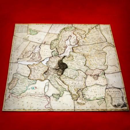 El primer puzzle de la historia. Europa dividida en sus reinos. Spilsbury 1767